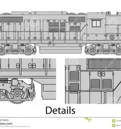 high detailed vector illustration of modern diesel electric locomotive [ 1300 x 981 Pixel ]