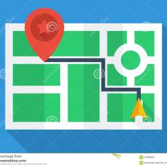 Simple View Of Reading Diagram Baldor Wiring 115 230 Gps Map Top Stock Vector Image 42580843