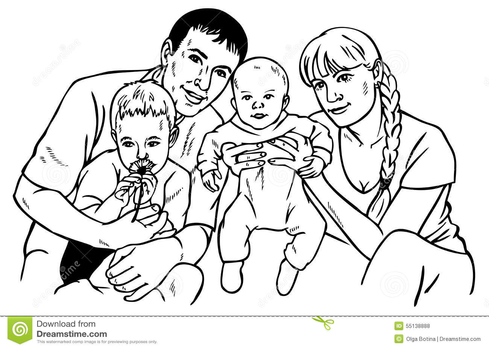 Grafico Feliz De La Familia Ilustracion Del Vector