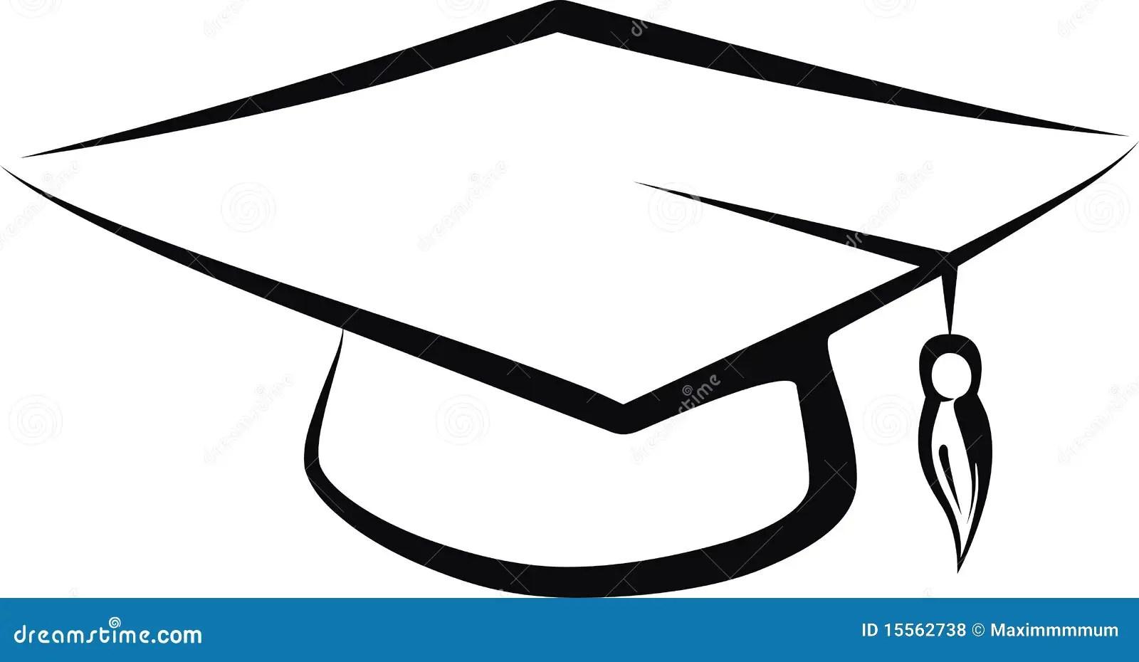 Graduate cap stock vector. Illustration of secondary