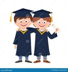 cartoon graduate vector students hugging education