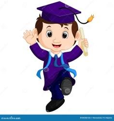 student cartoon graduate happy illustration preview