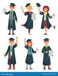 student graduate diploma cartoon students graduation university graduating opgeleide beeldverhaal graduatietoga universitaire het een college characters graduates vro educated woman