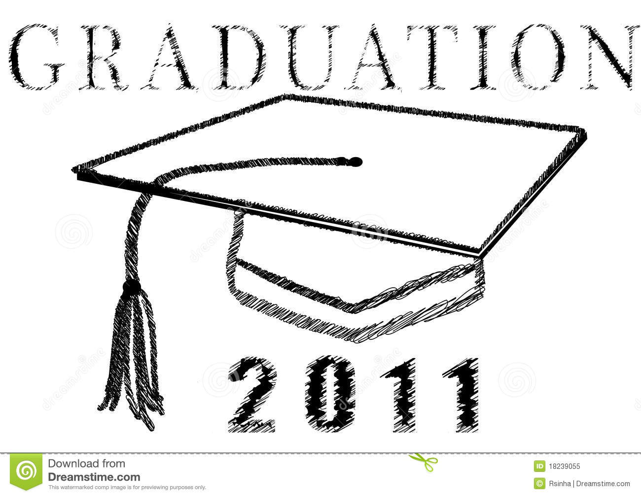 Graduation 2011 In Stylized Drawing Royalty Free Stock