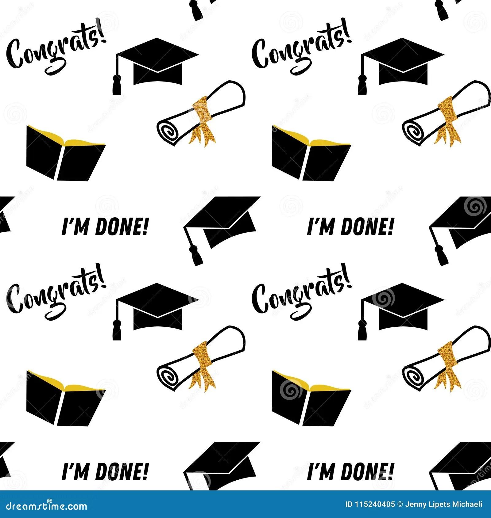 Graduation Seamless Pattern. Black And Golden Vector