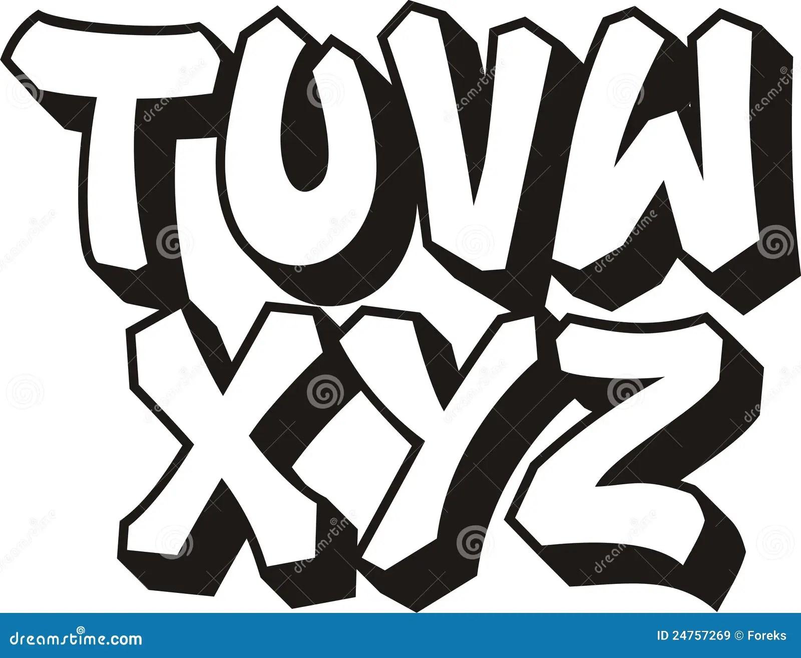 Graffiti Font Part 3 Stock Vector Illustration Of