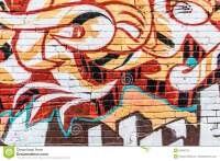 Graffiti Wall Stock Photo - Image: 52360725
