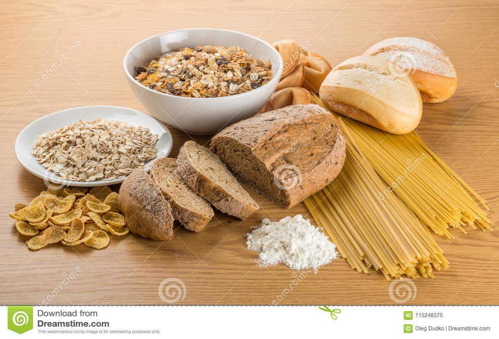 Grain Food Group Stock Image Image Of Oatmeal Board