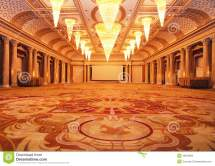 Grand Luxurious Hotel Hall Royalty Free Stock