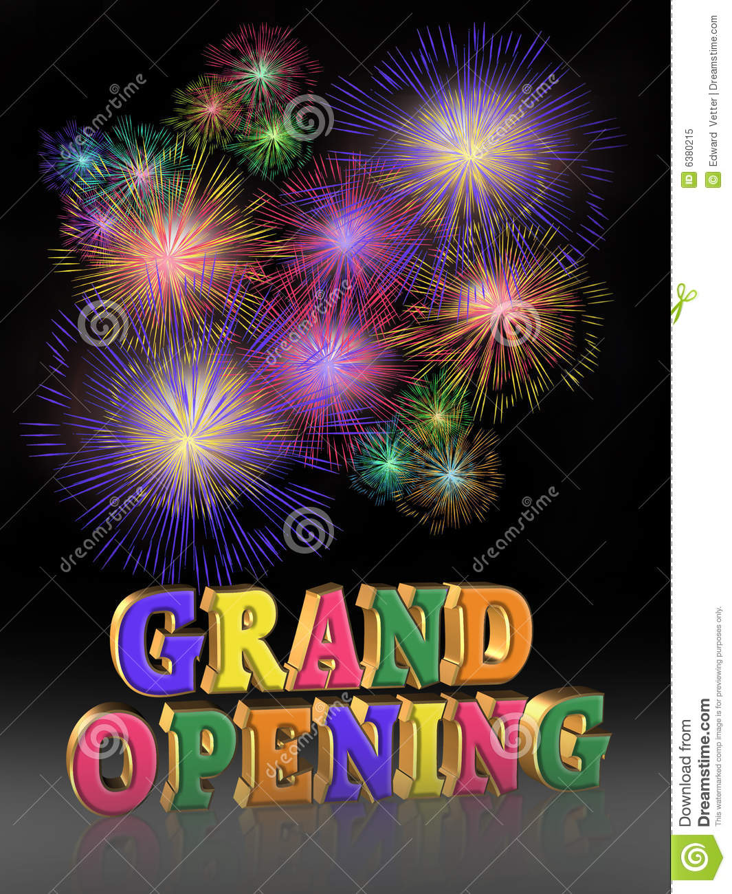 illustration of grand opening fireworks