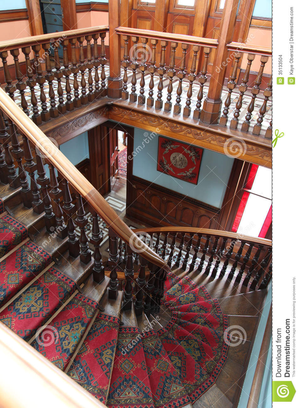 The Grand Staircase At Larnach Castle In Dunedin New Zeal