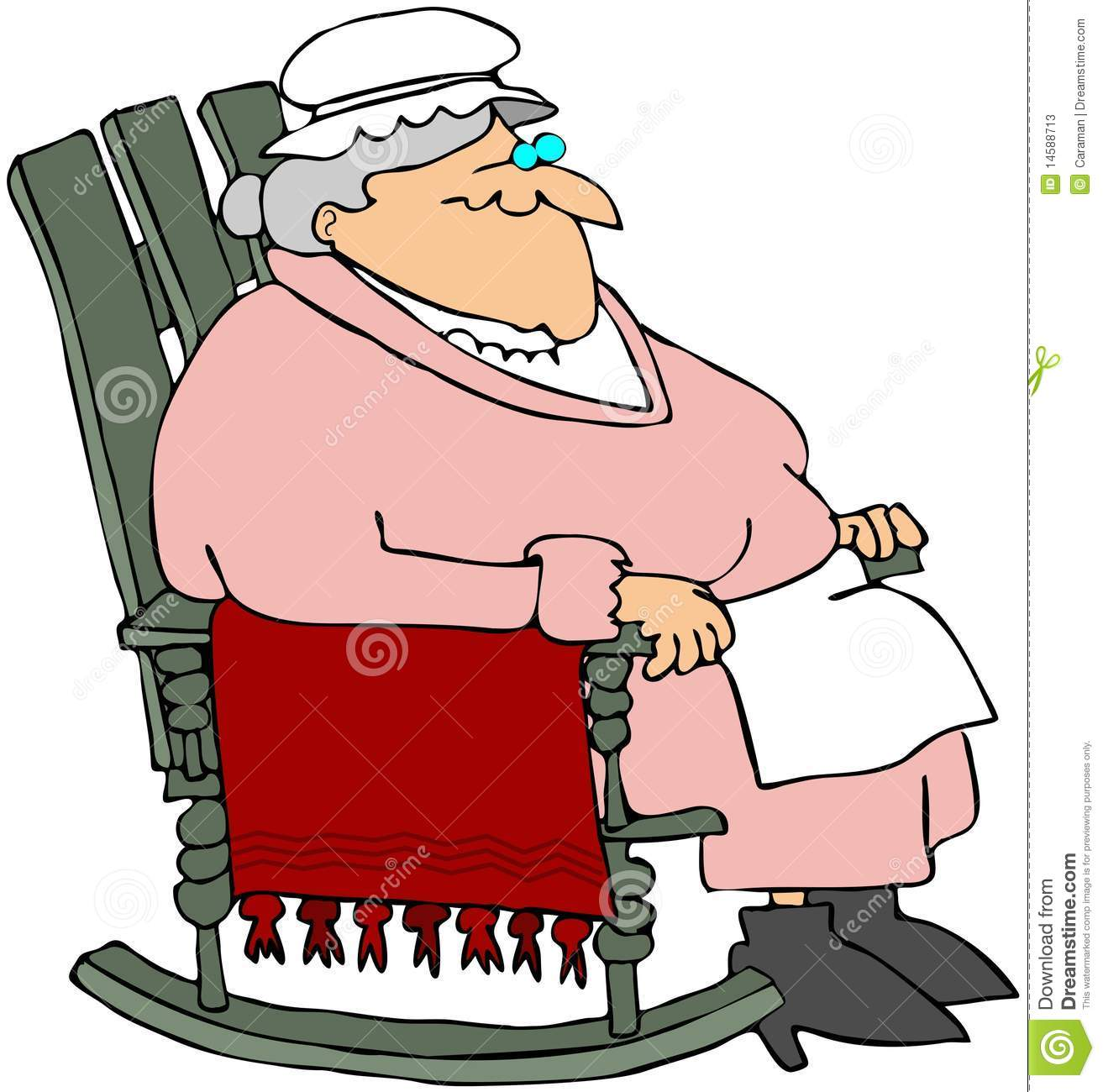 grandma rocking chair adjustable chairs without wheels in a stock illustration image of