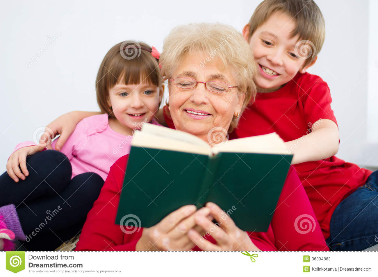Grandmother Reading Stock Image Image Of Love Reading