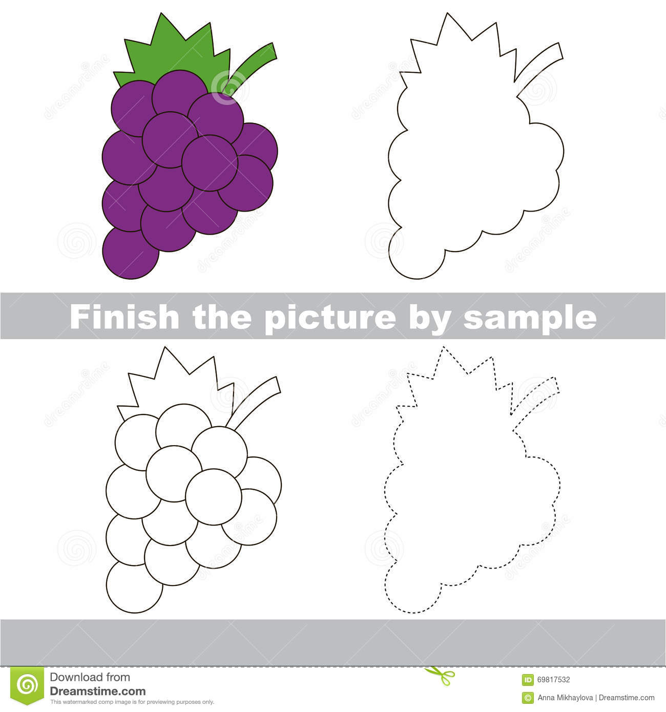 G S Drawing Worksheet Stock Vector Illustration Of Harvest