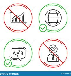 do or stop graph ab testing and globe icons simple set vacancy sign presentation diagram test chat internet world businessman concept business set  [ 1600 x 1383 Pixel ]