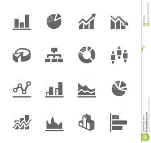 Graph And Diagram Icon Set Stock Vector  Image: 32323255