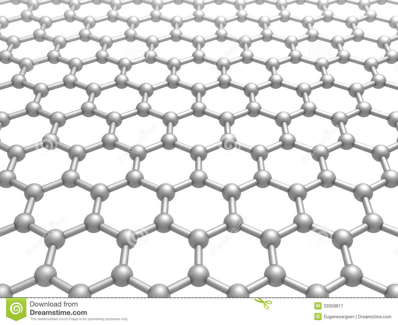 Graphene Layer Structure Schematic 3d Model Stock