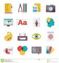 Graphic design icons flat stock vector. Illustration of ...