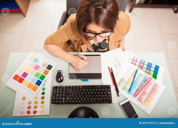 Graphic Designer In Office Stock - 49731973