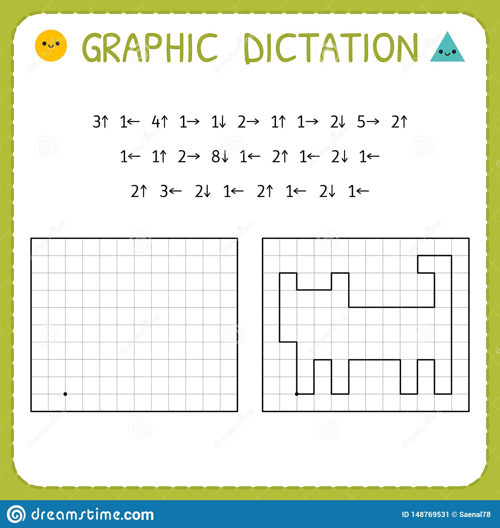 Graphic Dictation Cat Kindergarten Educational Game For