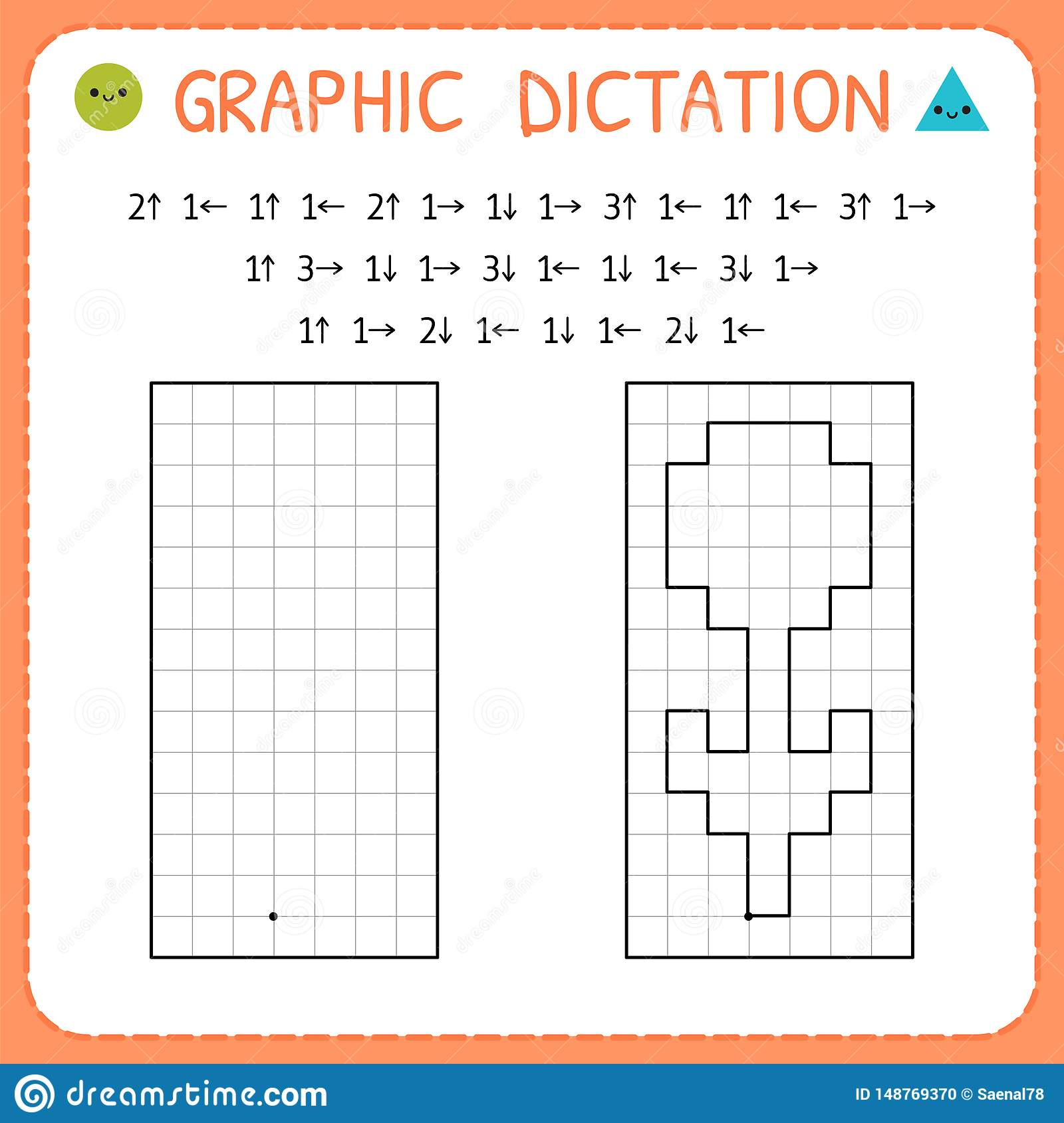 Graphic Dictation Flower Kindergarten Educational Game
