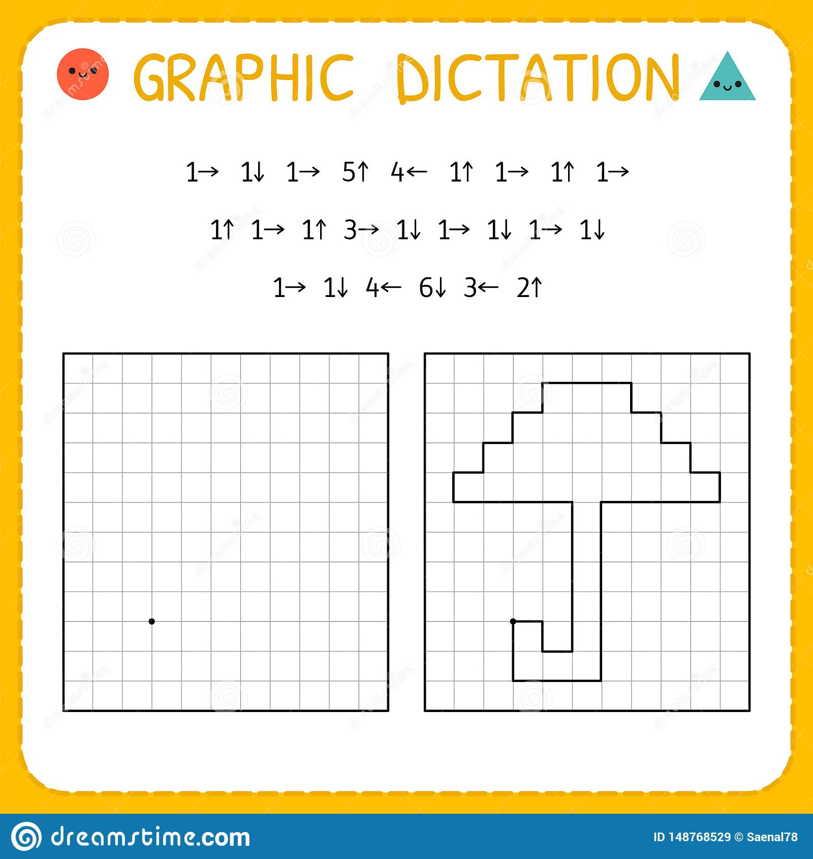 Graphic Dictation Umbrella Kindergarten Educational Game