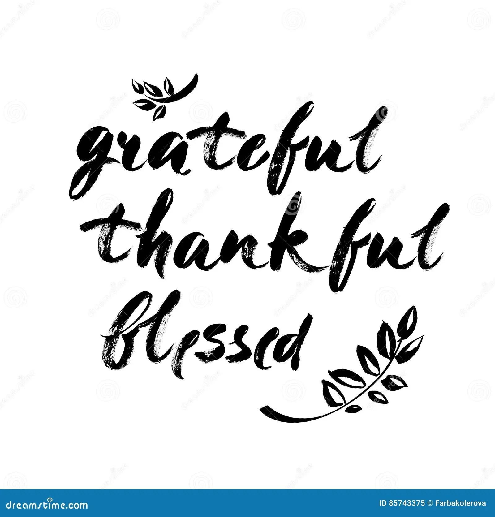 Blessed Thankful Grateful Vector Illustration