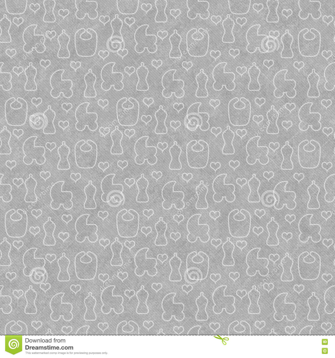 Gray Baby Tile Pattern Repeat Background Stock