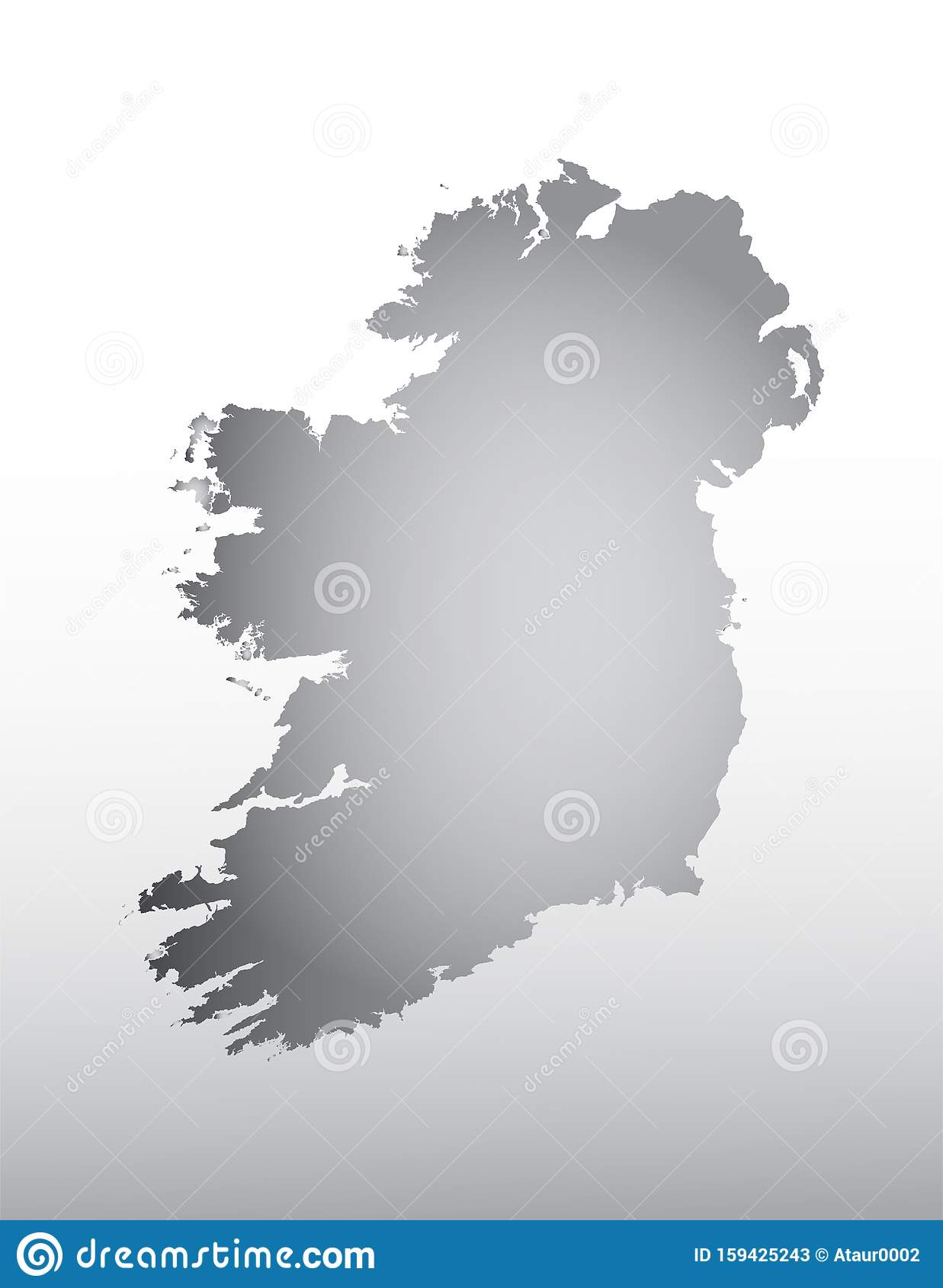 Dark And Light Map : light, Color, Ireland, Light, Effect, Vector, Background, Stock, Illustration, Ocean,, Dark:, 159425243
