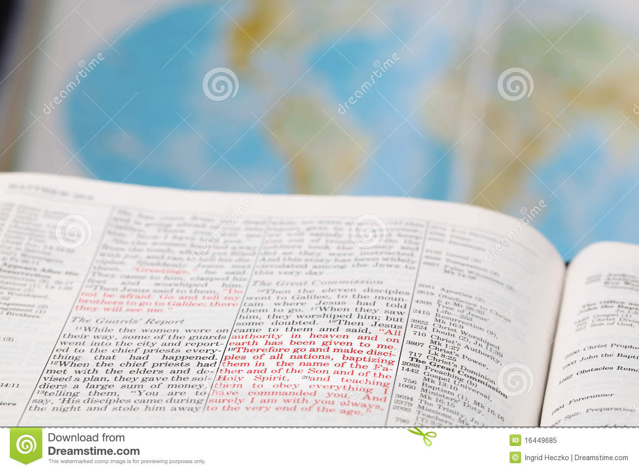 Great Commission Stock Image Image Of World Testament