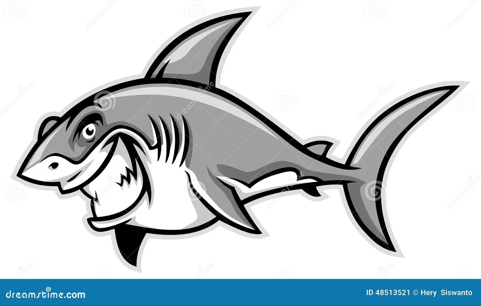 Great White Shark Smiling Stock Vector Illustration Of