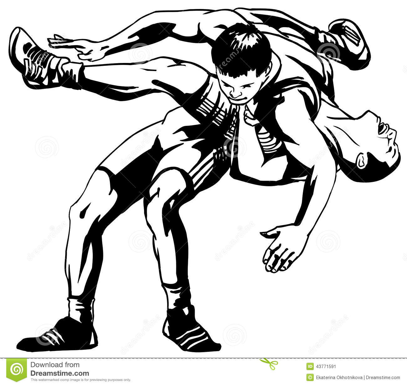 Greco Roman Wrestling Stock Vector Image Of Battle Male