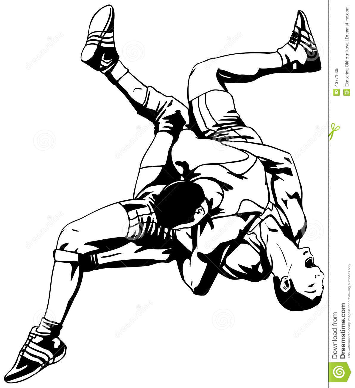 Greco Roman Wrestling Stock Vector Illustration Of Arts