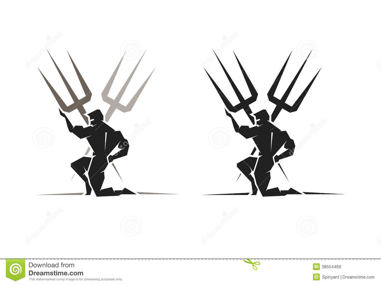 Greek God Poseidon Stock Vector Illustration Of Trident