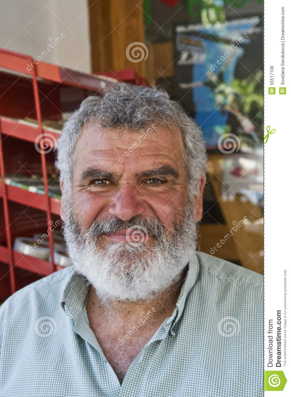 Greek Man With Beard And Moustache Editorial Photo Image