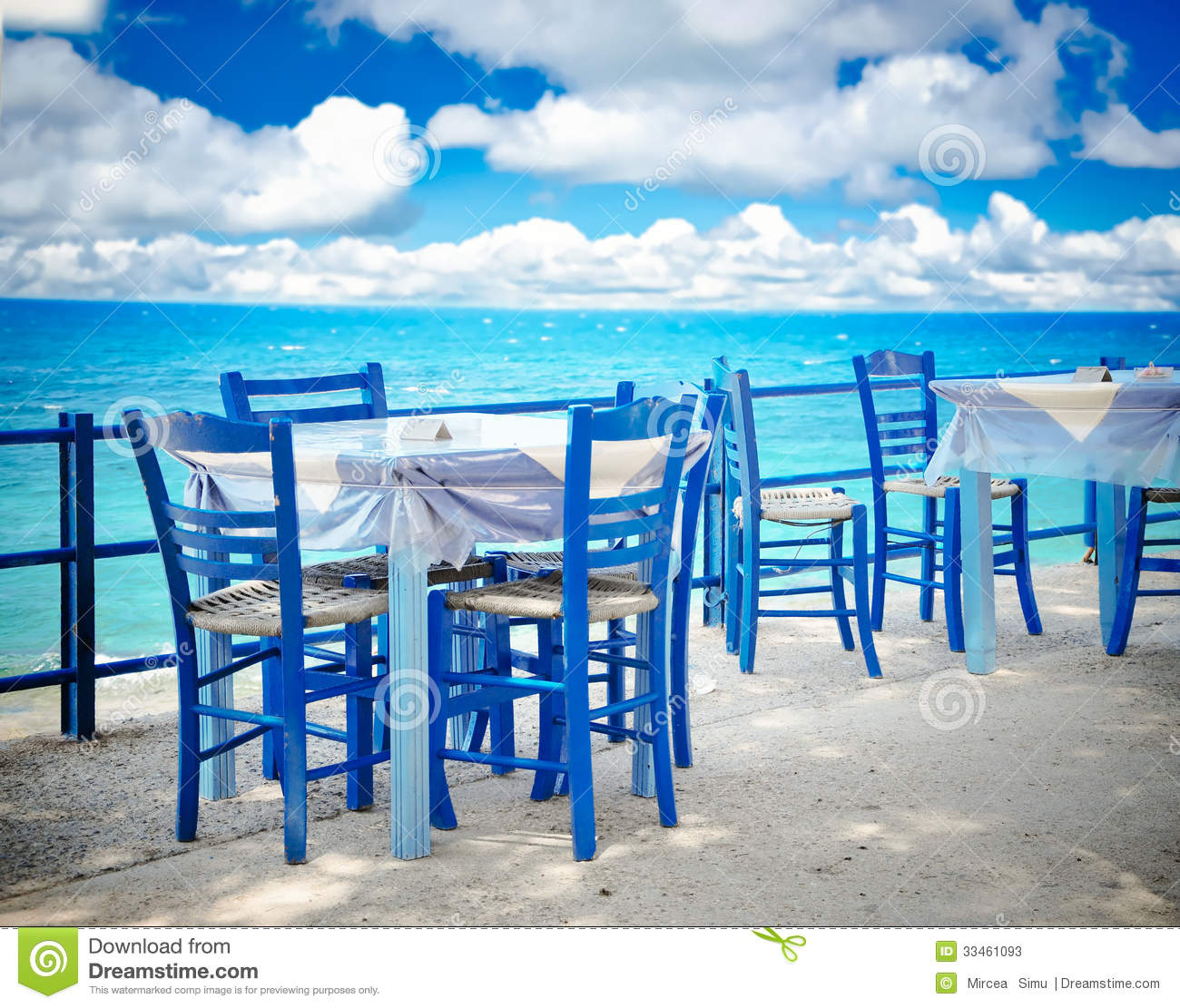 restaurant chairs for less office chair deals greek tavern stock image. image of crete, greece, food - 33461093