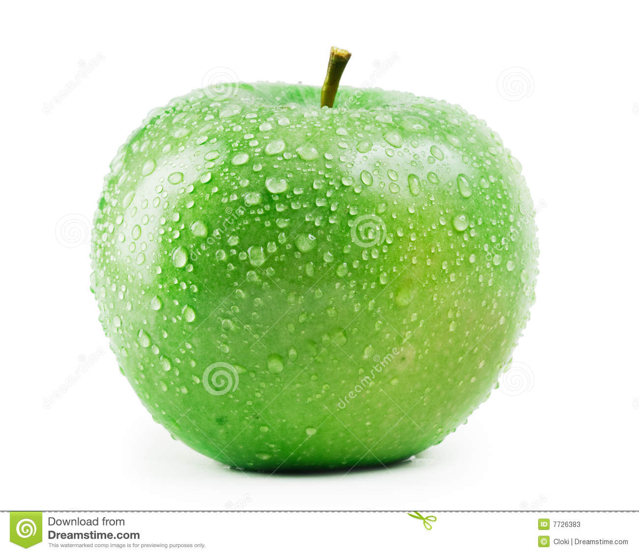 Falling Water Wallpaper Free Download Green Apple With Water Drops Stock Image Image Of