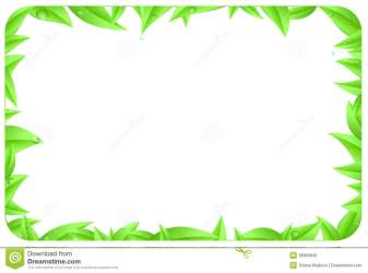 border leaves text background space element isolated