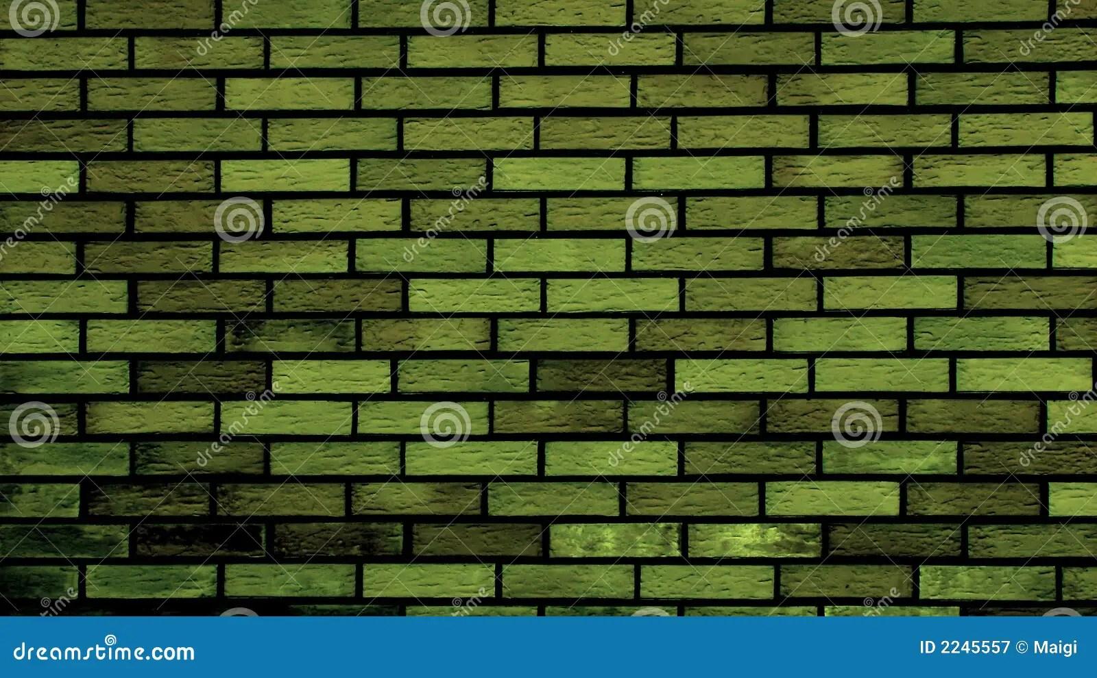 Vector Wallpaper Fall Colors Green Brick Wall Royalty Free Stock Photography Image