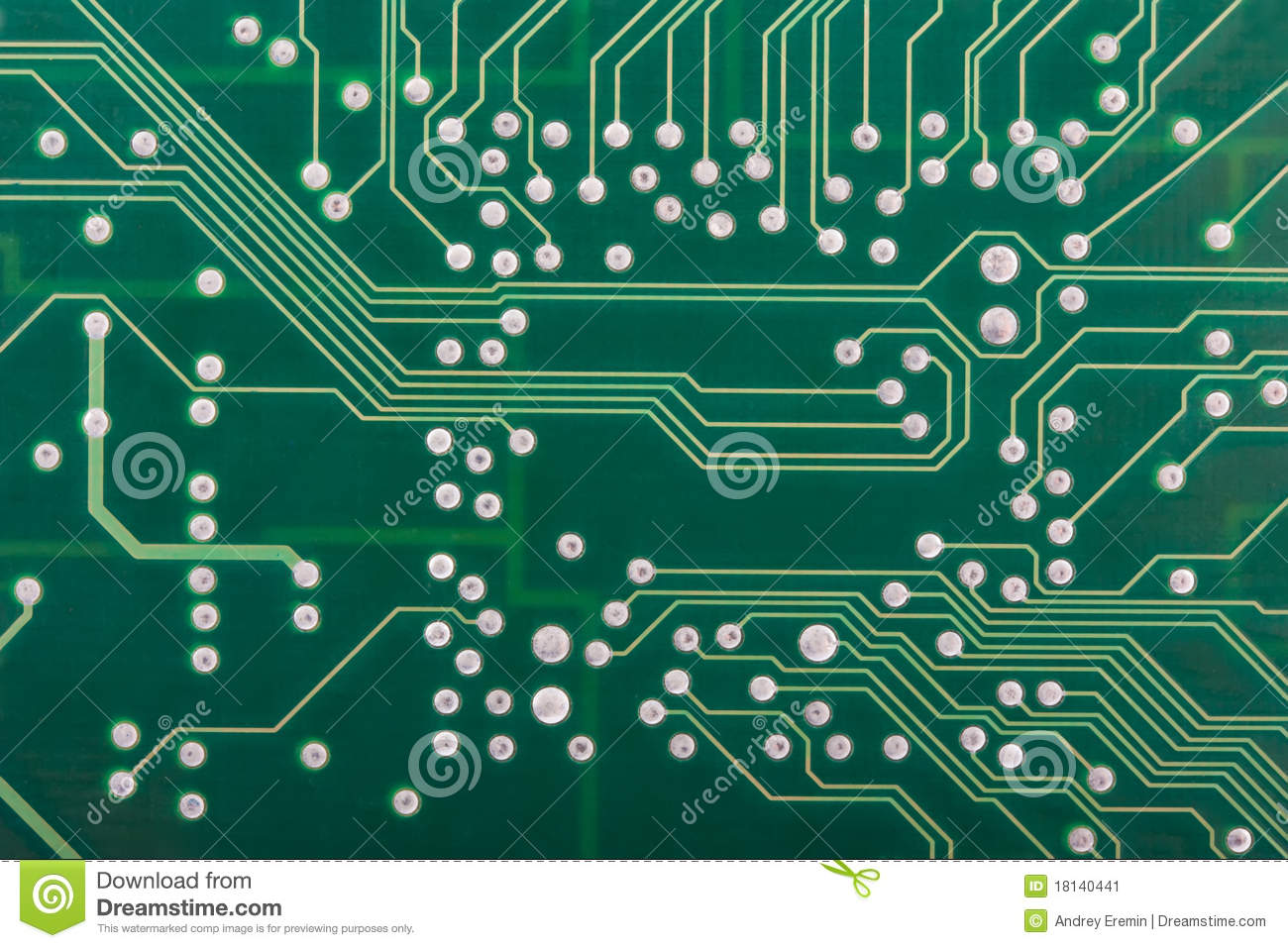 Vector Of 39the Printed Circuit Board Without Electronic Components