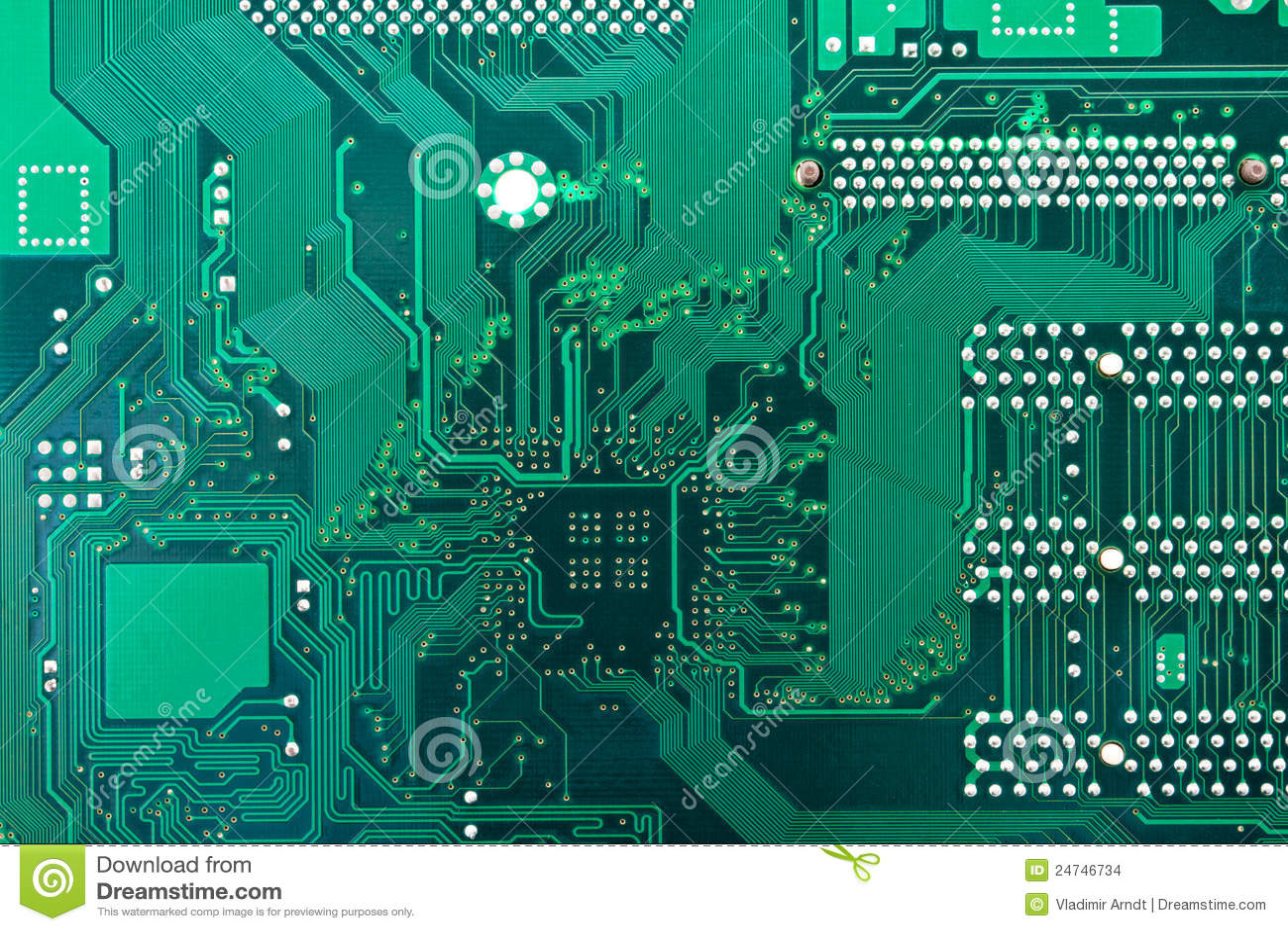 Green Circuit Board Royalty Free Stock Photo Image 27694475