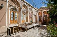 Green Courtyard Of Beautiful Iranian Mansion With Ottoman ...
