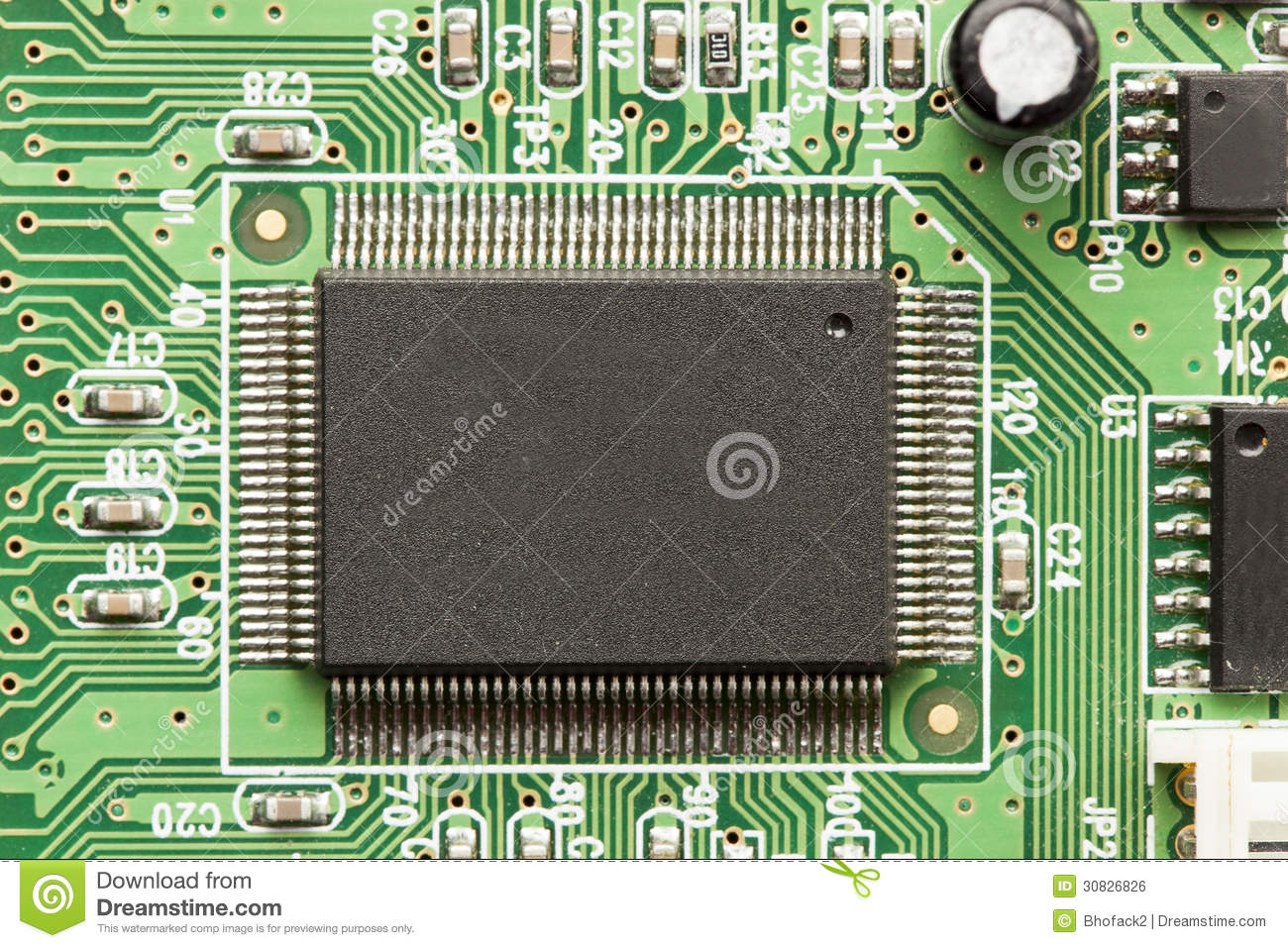 Electric Circuit Board Royalty Free Stock Photo Image 32584925