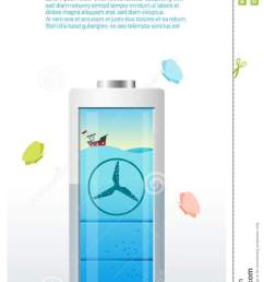 green energy concept background with tidal energy charging battery [ 760 x 1300 Pixel ]