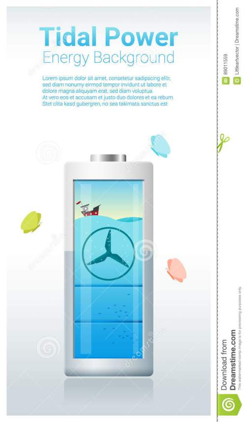 small resolution of green energy concept background with tidal energy charging battery
