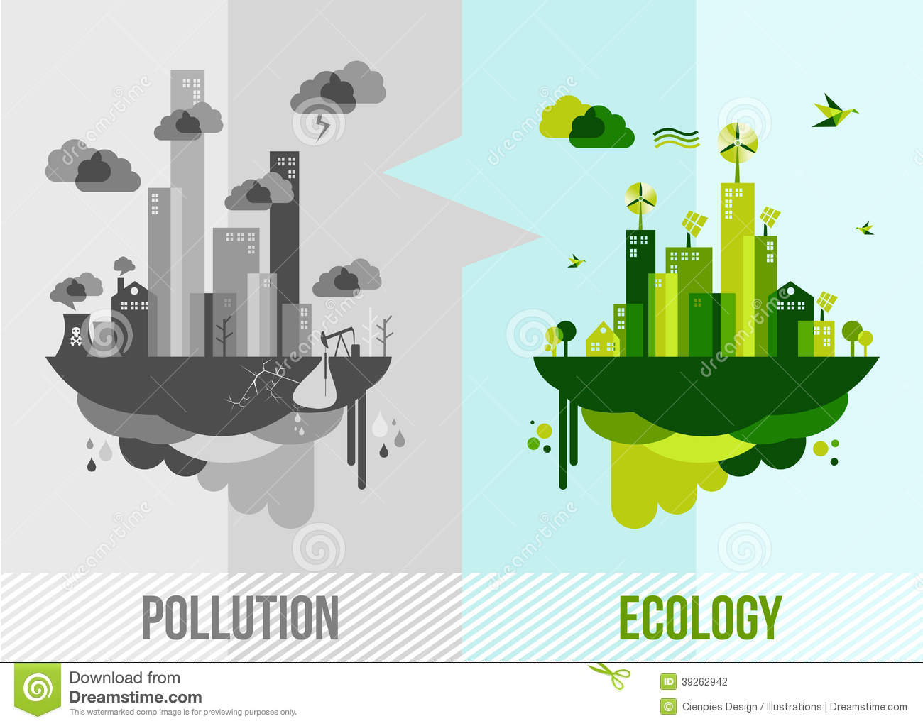 Green Environment Concept Illustration Stock Vector