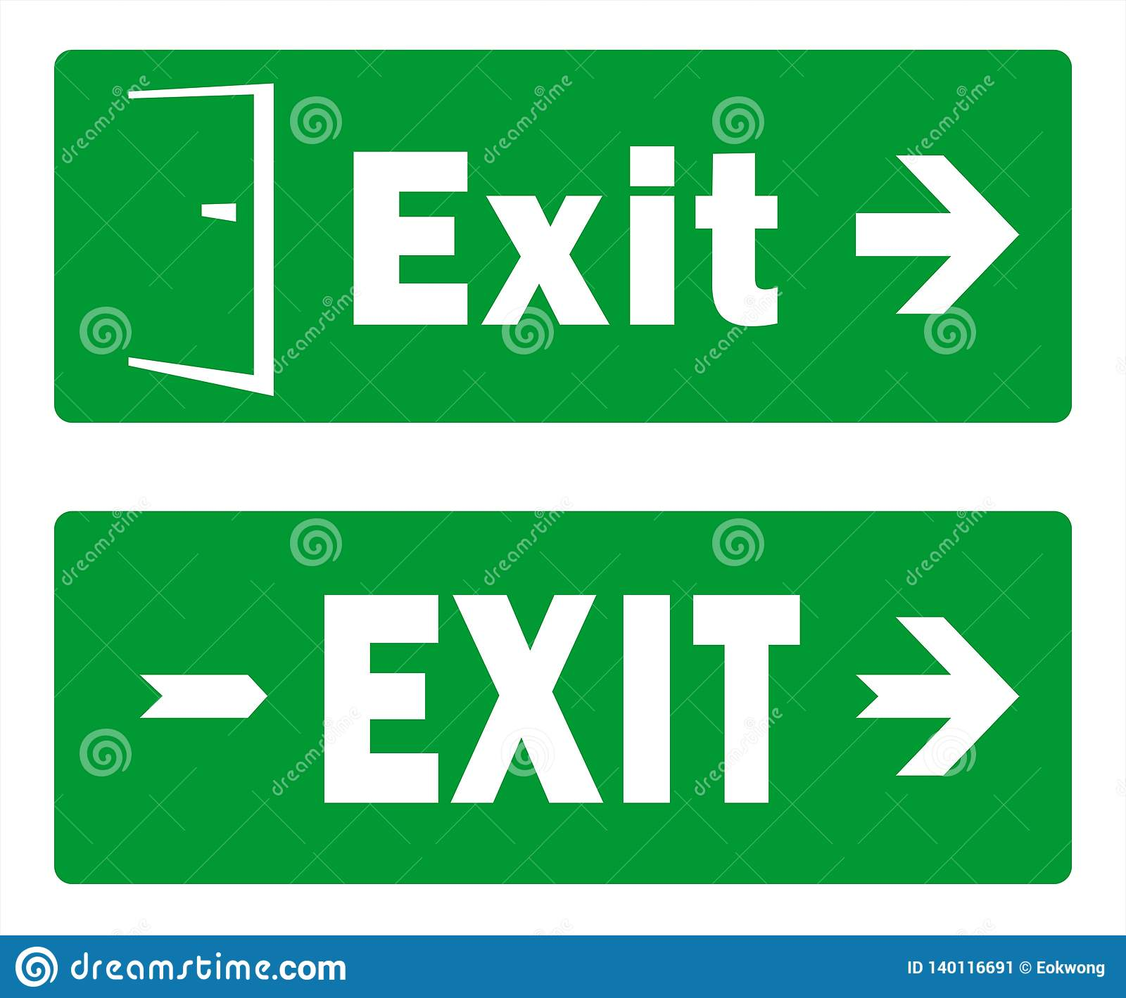 Green Exit Sign Template Designs