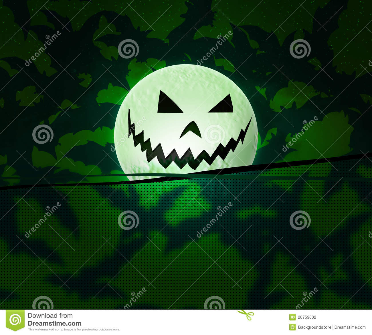 Colorful Fall Scene Wallpaper Green Halloween Background Stock Photography Image 26753602