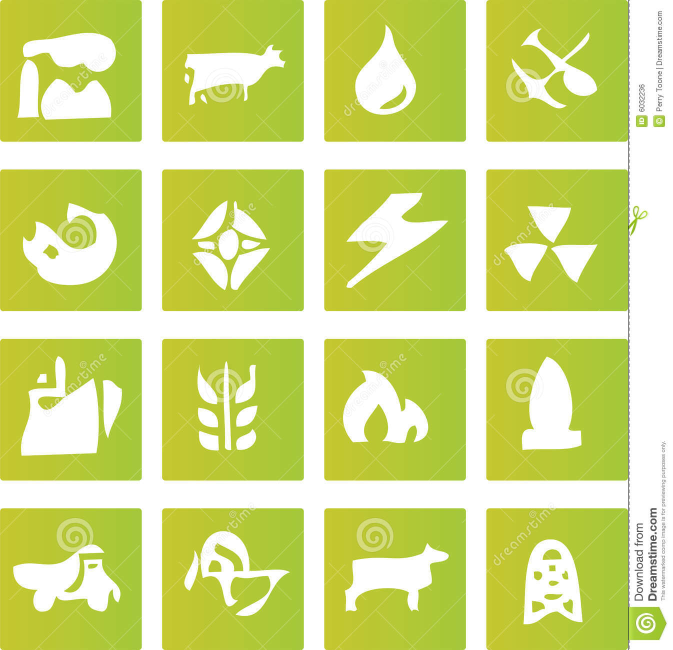 Green Industry Icons Royalty Free Stock Image