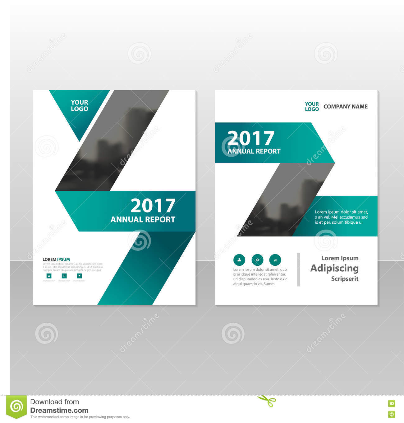 Green Label Triangle Triangle Annual Report Leaflet
